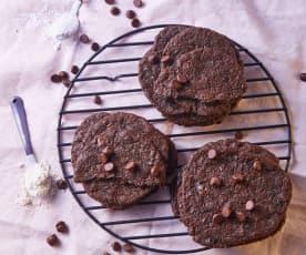 Galletas con chispas de chocolate veganas y sin gluten