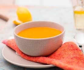 Zupa krem z pieczonej papryki i marchewek