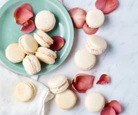 Christy Tania's Macarons with strawberry cream cheese ganache
