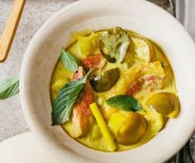 Curry jaune au magret de canard