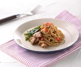 Noodles con cordero