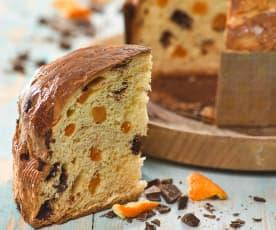 Panettone s čokoládou a pomerančem