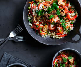 Cheat's cauliflower fried rice