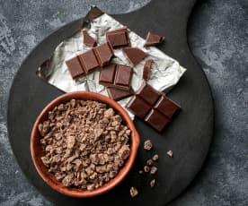 Chocolate amargo rallado grueso (250-300 g)