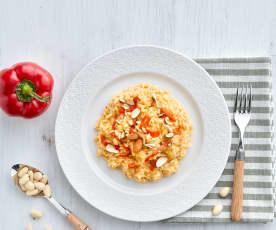 Risotto ai peperoni e Parmigiano reggiano