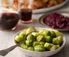 Steamed Brussels Sprouts with Orange Herb Butter