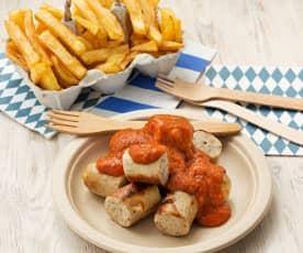Currywurst (salchichas con salsa agridulce alemana)