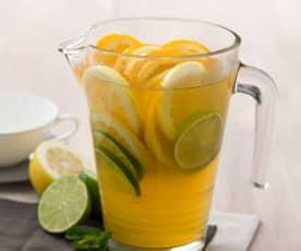 Té verde con menta y cítricos