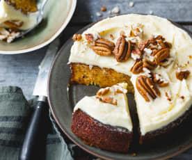 Carrot cake et noix de pécan