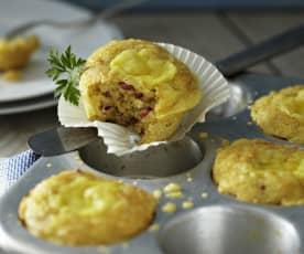 Käse-Salami-Muffins