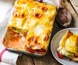 Lasagne au cabillaud, courgettes et gingembre