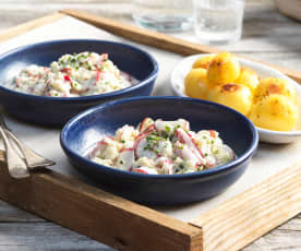 Apfel-Radieschen-Salat mit Joghurt