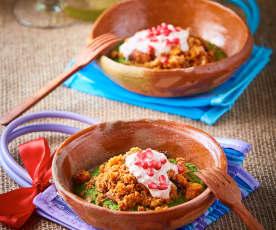 Cremoso de chiles en nogada
