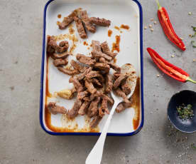 Browned Beef Strips