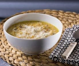 Zuppa di cous cous alla zucca