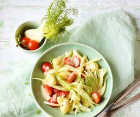 Gnocchi-Fenchel-Gemüse mit Gorgonzolasauce