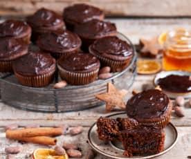 Pełnoziarniste muffinki piernikowe