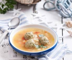 Zupa rybna z pulpecikami