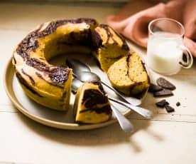 Gâteau marbré potiron-chocolat