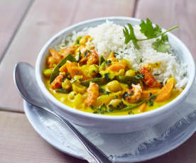 Kichererbsen-Curry mit Krebsfleisch