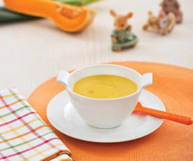 Zupa krem z białej fasoli i dyni (dla dzieci)