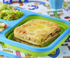 Sandwich horneado de pechuga de pavo