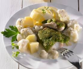 Fisch mit Kräuter-Käse-Kruste