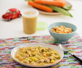 Zupa gulaszowa z ciecierzycą i cielęciną (dla dzieci)