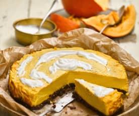 Dýňový cheesecake se skořicí