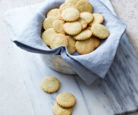 Macadamia and Parmesan biscuits