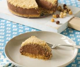 Czekoladowe ciasto lodowe z mascarpone i orzechami laskowymi