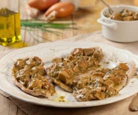 Vitello ai funghi porcini con salsa aromatica