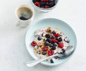 Low-Carb-Porridge mit Beeren