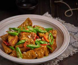青椒炒臭豆腐