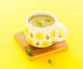 Soupe d'artichaut mentholée