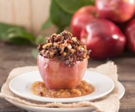 Manzanas rellenas de morcilla