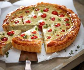 Blätterteig-Gorgonzola-Quiche