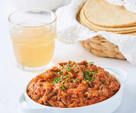 Bistec de res en salsa de chipotle