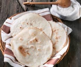 Pan árabe sin gluten