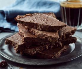 Perníková čokoláda s mákem a třešněmi