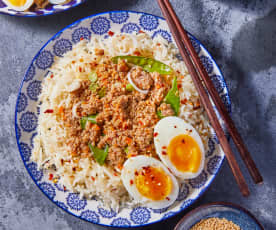 Braised Pork and Eggs with Rice