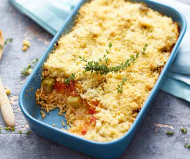 Crumble tomate-fenouil