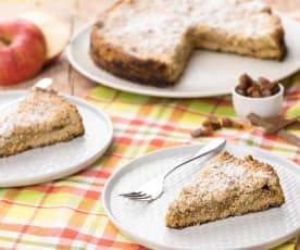 Drobenkový koláč z celozrnné mouky s jablky