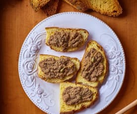 Crostini con crema di milza