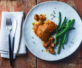 Cosce di pollo e funghi a Cottura Lenta