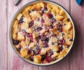 Brioche Berry Pudding