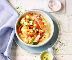 Hähnchen-Gemüse mit Currysauce
