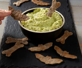 Monster Mash with Black Sesame Crackers