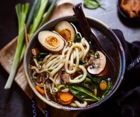 Miso-Udon-Suppe