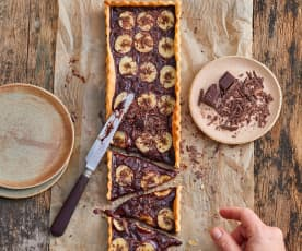 Tarte fine au chocolat et à la banane